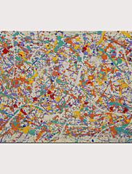abordables -peinture abstraite jackson pollock style toile art print abstrait art mural pour la décoration murale prêt à accrocher