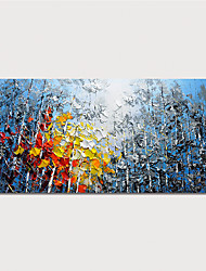 Недорогие -ручная роспись холст картина маслом абстрактный пейзаж украшения дома с рамкой картины готовы повесить