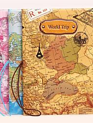 billiga -1pc resedokument arrangör världskarta pass ID-kort förvaringsväska