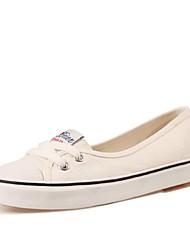 رخيصةأون -نسائي كانفا الصيف كلاسيكي أحذية رياضية المشي كعب مسطخ أمام الحذاء على شكل دائري أبيض / أزرق داكن / أزرق فاتح