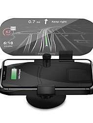 Недорогие -Автомобиль второго поколения дисплей hud держатель мобильного телефона 10whud беспроводное зарядное устройство автомобиля проекционная головка
