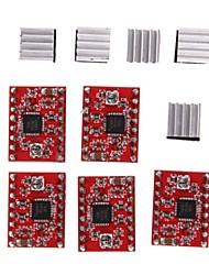 ieftine -Imprimanta 3d a4988 pas cu pas motor driverul antetului a fost sudat plus chiuveta 5pcs