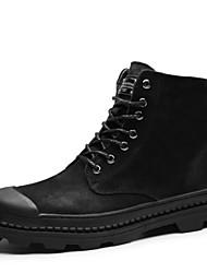 Χαμηλού Κόστους -Ανδρικά Μπότες Μάχης Δέρμα Φθινόπωρο & Χειμώνας Μπότες Μαύρο