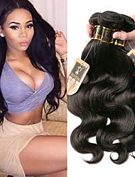 olcso -6 csomag Maláj haj Hullámos haj 100% Remy hajszövési csomó Az emberi haj sző Bundle Hair Egy Pack Solution 8-28 hüvelyk Természetes szín Emberi haj sző Szagmentes Selymes Vastag Human Hair Extensions