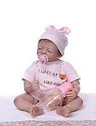 Недорогие -NPKCOLLECTION Куклы реборн Девочки 22 дюймовый Винил - как живой Подарок Ручная работа Детские Универсальные Игрушки Подарок