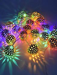 Недорогие -3м струнные светильники 20 светодиодов теплый белый / RGB / белый креатив / вечеринка / светодиодный рождественский фонарь / декоративные 5 В USB 1 комплект