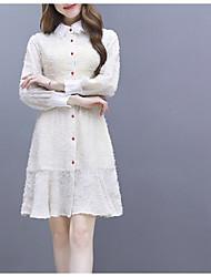 رخيصةأون -فستان نسائي سترة أساسي فوق الركبة لون سادة