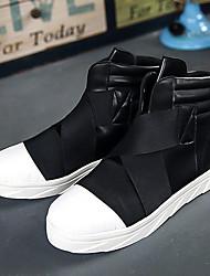 abordables -Hombre Zapatos de hip hop y baile callejero PU Zapatilla Tacón Plano Zapatos de baile Blanco / Rojo / Negro / Blanco