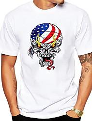 billige -Herre - Dyr T-shirt Hvid XL