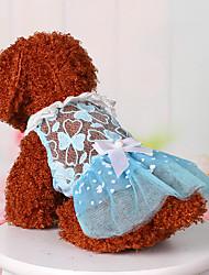 povoljno -Psi Jumpsuits Odjeća za psa Jednobojni Plava Pink Poliester Kostim Za Ljeto slatko Moda