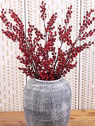 billiga -Konstgjorda blommor 1 Gren Klassisk Fest Rekvisita Plantor Eviga Blommor Bordsblomma
