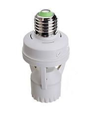 Недорогие -1шт E27 на E27 100-240 V Инфракрасный датчик пластик Разъем для лампочки