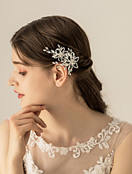 cheap -Alloy Headdress / Hair Accessory with Crystals 1 pc Wedding / Party / Evening Headpiece