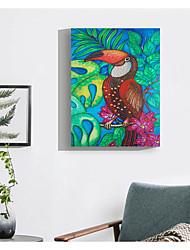 tanie -Abstrakcja Dekoracja ścienna Włókniny / poliuretanu Zwierzęta Wall Art, Malowanie diamentami Dekoracja