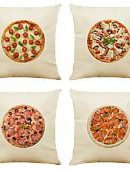 economico -set di 4 modelli di biancheria da lino quadrati decorativi federe per cuscini cuscino per divani 18x18