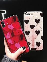 abordables -Coque Pour Apple iPhone XR / iPhone XS Max Motif Coque Cœur Flexible Le gel de silice pour iPhone XS / iPhone XR / iPhone XS Max