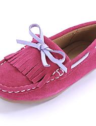 Χαμηλού Κόστους -Κοριτσίστικα Παπούτσια Σουέτ Άνοιξη / Φθινόπωρο Ανατομικό / Μοκασίνι Μοκασίνια & Ευκολόφορετα Φούντα για Παιδιά / Εφηβικό Βυσσινί / Φούξια / Ροζ