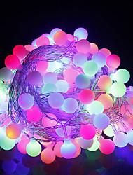 Χαμηλού Κόστους -10 ίντσες Φώτα σε Κορδόνι 60 LEDs RGB Δημιουργικό / Πάρτι / Διακοσμητικό 220-240 V 1pc