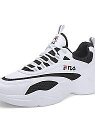 tanie -Męskie Komfortowe buty Elastyczna tkanina Wiosna i lato Sportowy / Casual Buty do lekkiej atletyki Bieganie Oddychający Biały / Beżowy / Czarny i biały