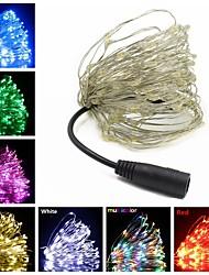 billige -10 m Lysslynger 100 LED Varm hvit / RGB / Hvit Kreativ / Kuttbar / Fest 12 V 1pc