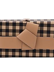 cheap -Women's Bags PU(Polyurethane) Crossbody Bag Sashes / Ribbons / Chain Lattice Black / Red / Khaki