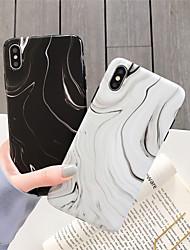 Недорогие -чехол для яблока iphone xr / iphone xs max pattern / матовая задняя крышка из мрамора мягкое тпу для iphone x / xs / 6/6 plus / 6s / 6s plus / 7/7 plus / 8/8 plus