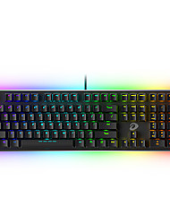 levne -dareu ek925 usb drátová mechanická klávesnice mechanická svítící vícebarevná podsvícená 108 ks klíčů