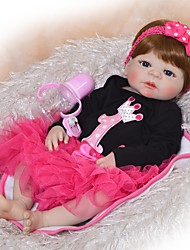cheap -FeelWind Reborn Doll Baby Boy Baby Girl 22 inch Full Body Silicone Silicone - Kids / Teen Adorable Lovely Kid's Unisex Toy Gift