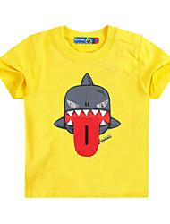 preiswerte -Kinder Jungen Aktiv / Grundlegend Druck Druck Kurzarm Baumwolle / Elasthan T-Shirt Gelb