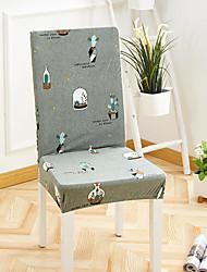 preiswerte -Stuhlabdeckung Blumen / Druck Garngefärbt / Bedruckt Polyester Überzüge