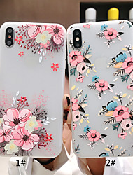 abordables -Coque Pour Apple iPhone XR / iPhone XS Max Dépoli / Motif Coque Papillon / Fleur Flexible TPU pour iPhone XS / iPhone XR / iPhone XS Max
