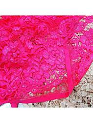 baratos -Rendas Cor Única Inelástico 150 cm largura tecido para Vestuário e Moda vendido pelo Metro