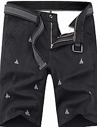 abordables -Hombre Básico Shorts Pantalones - Estampado Verde Trébol