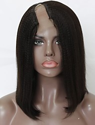 cheap -Virgin Human Hair Remy Human Hair U Part Wig Bob Layered Haircut Side Part style Brazilian Hair Yaki Straight Wig 130% Density Soft Natural Natural Hairline African American Wig 100% Virgin Natural