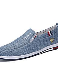 رخيصةأون -رجالي أحذية الراحة كتان للربيع والصيف كاجوال المتسكعون وزلة الإضافات المشي ارتداء إثبات أزرق داكن / رمادي / أزرق فاتح