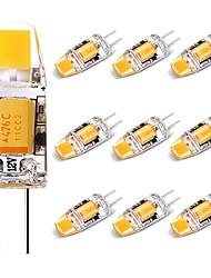 Недорогие -10 шт. 2 W Двухштырьковые LED лампы 120 lm G4 T 1 Светодиодные бусины COB Декоративная Милый Тёплый белый 12 V