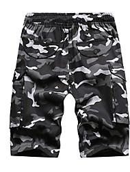 tanie -Męskie Podstawowy Szorty Spodnie - Wzór geometryczny Czarny