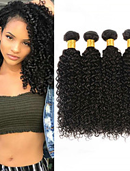 cheap -4 Bundles Malaysian Hair Kinky Curly 100% Remy Hair Weave Bundles Natural Color Hair Weaves / Hair Bulk Bundle Hair Human Hair Extensions 8-28inch Natural Color Human Hair Weaves Newborn Simple Odor