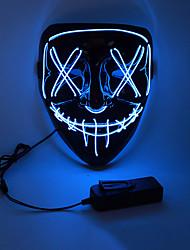 Недорогие -Маска Хэллоуина Взрослые Муж. LED Загораться Хэллоуин Фестиваль / праздник ПВХ Белый / Оранжевый / Желтый Муж. Жен. Карнавальные костюмы / Маски / Маски