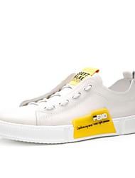 رخيصةأون -رجالي أحذية الراحة جلد للربيع والصيف أحذية رياضية أبيض