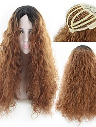 cheap -Synthetic Wig Curly Style Middle Part Capless Wig Brown Light Brown Synthetic Hair 22 inch Women's Women Brown Wig Long Natural Wigs