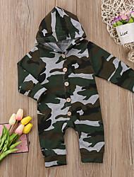 billige -Baby Gutt Aktiv / Grunnleggende Trykt mønster Klassisk / Grunnleggende Langermet Bomull / Polyester / Spandex Endelt Militærgrønn