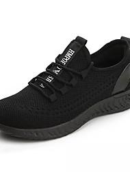Недорогие -Муж. Комфортная обувь Сетка Весна На каждый день Спортивная обувь Для прогулок Дышащий Черный / Серый / Черный / Красный
