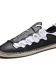 رخيصةأون -رجالي أحذية الراحة PU للربيع والصيف رياضي / كلاسيكي أحذية رياضية الركض متنفس مخطط أبيض / أسود