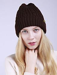 voordelige -Unisex Actief Standaard Acryl,Effen Floppy hoed-Herfst Winter Rood Donkergrijs Khaki