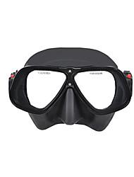 Недорогие -YON SUB Дайвинг Маски подводный Два окна - Плавание Силикон - Назначение Взрослые Черный / Противо-туманное покрытие / Сухая трубка