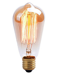 preiswerte -1pc 40 W E26 / E27 ST64 Warmes Weiß 2000 k Dekorativ Glühbirne Vintage Edison Glühbirne 220-240 V / 110-130 V