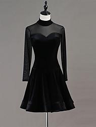 お買い得  -ラテンダンス ドレス 女性用 性能 スパンデックス コンビ 長袖 ドレス