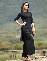 ราคาถูก -ชุดกีฬา Outfits / Yoga สำหรับผู้หญิง Performance Modal กระโปรงระบาย ครึ่งแขน Top / กางเกง