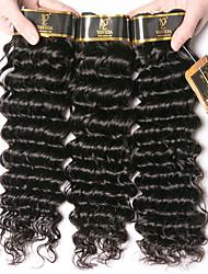 olcso -3 csomag Maláj haj Mély hullám 100% Remy hajszövési csomó Az emberi haj sző Bundle Hair Emberi haj tincsek 8-28 hüvelyk Természetes szín Emberi haj sző Szagmentes Kreatív Selymes Human Hair Extensions